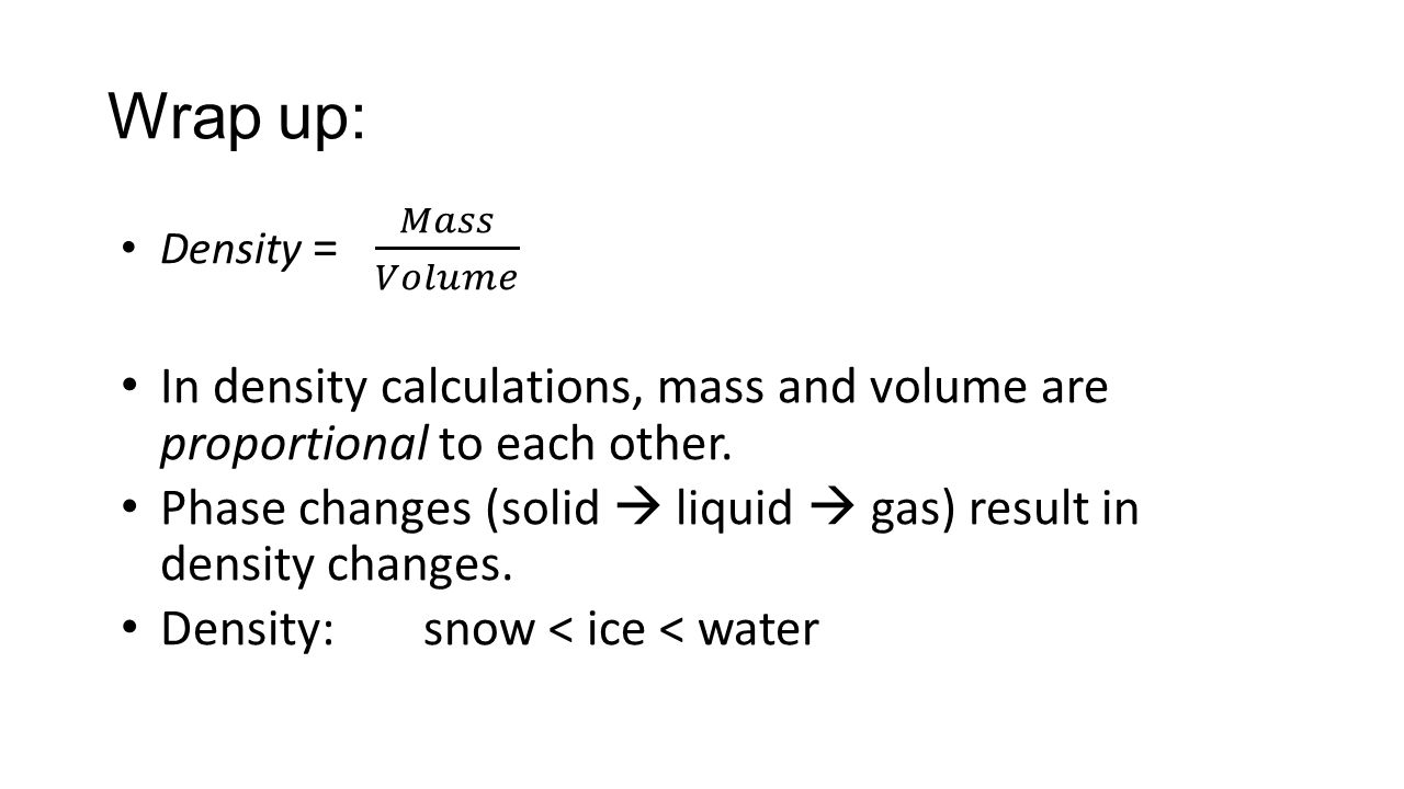Lesson 3 Im having a meltdown ppt download – Density Calculations Worksheet Answers