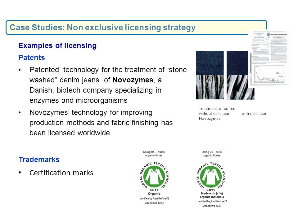 Case Studies: Non exclusive licensing strategy