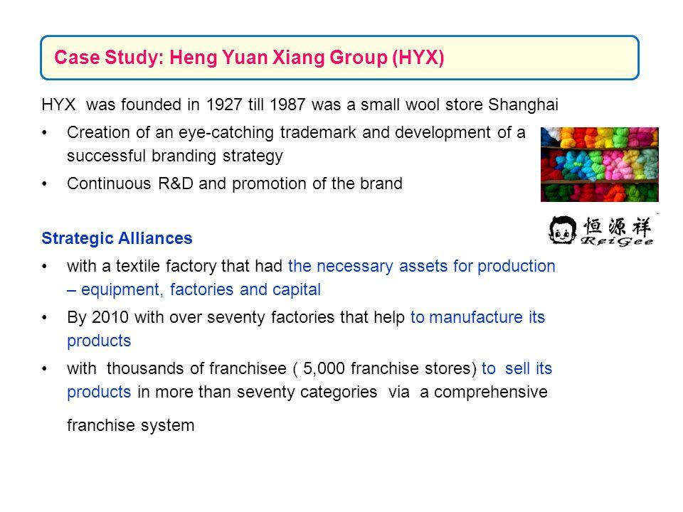 Case Study: Heng Yuan Xiang Group (HYX)