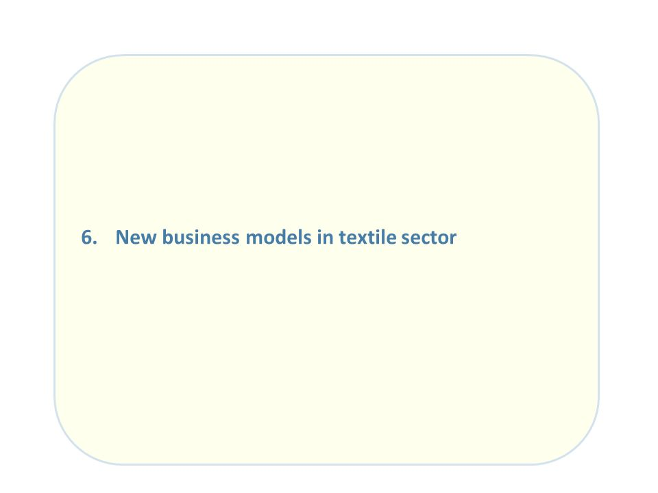 New business models in textile sector