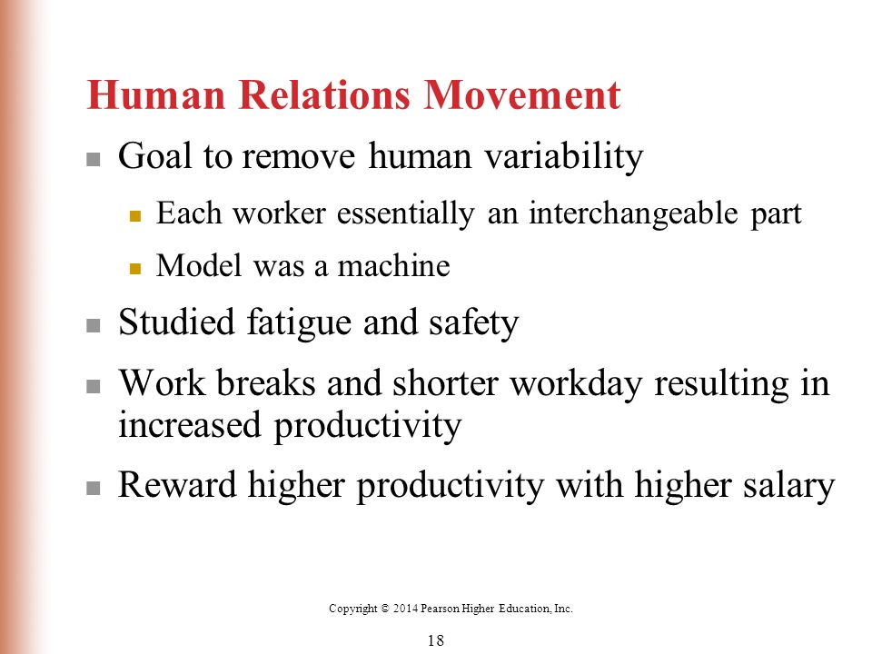 Contribution of the human relations movement
