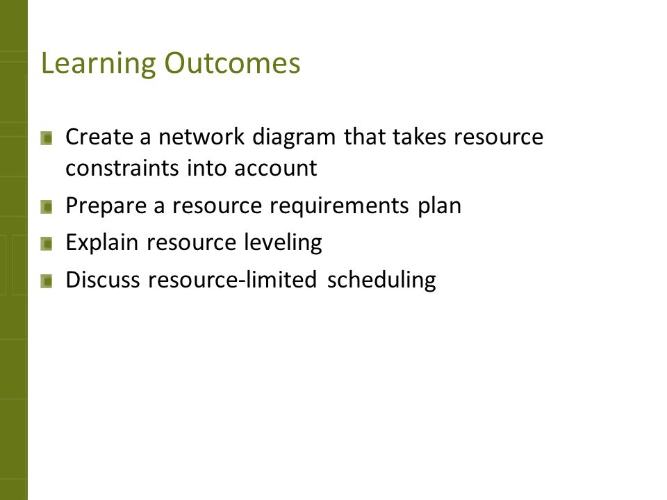 6 resource utilization 4282017 teaching strategies ppt download create a network diagram that takes resource constraints ccuart Choice Image