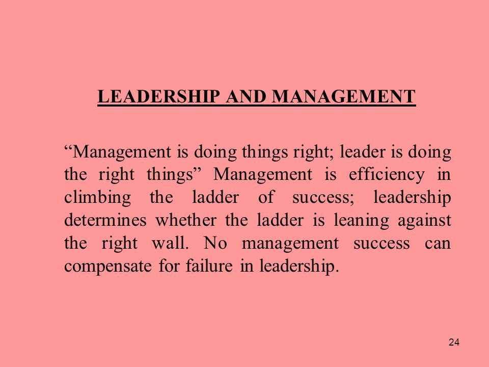 leadership management and the failure of 101 common causes there are many failure to establish effective leadership in one or more of the three risk management failure to think ahead and to foresee.