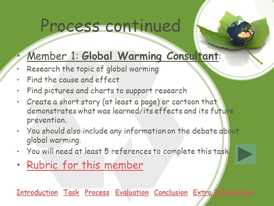 """Global Warming"": Topics for a Research Paper"