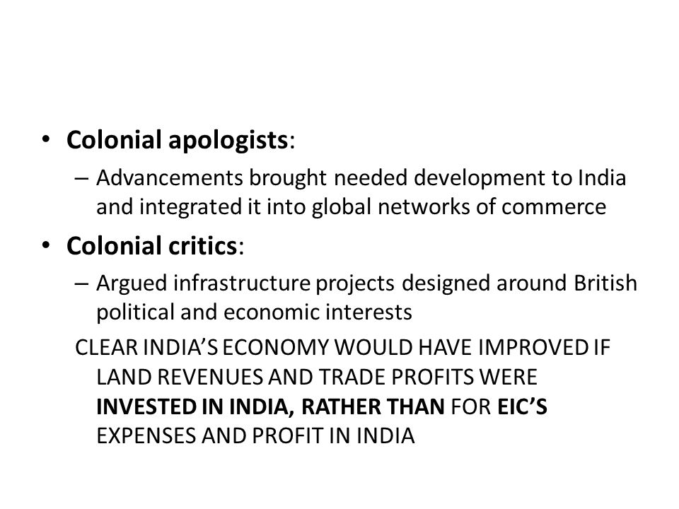 Colonial Development Service : The british in india sec iii ppt video online download