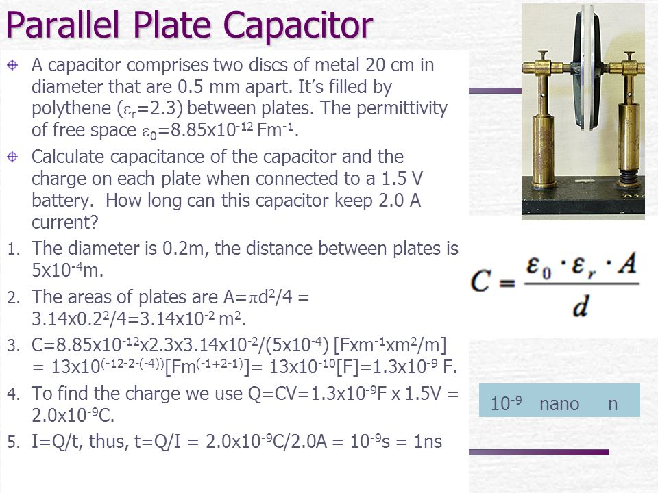 how to find capacitance from kvar
