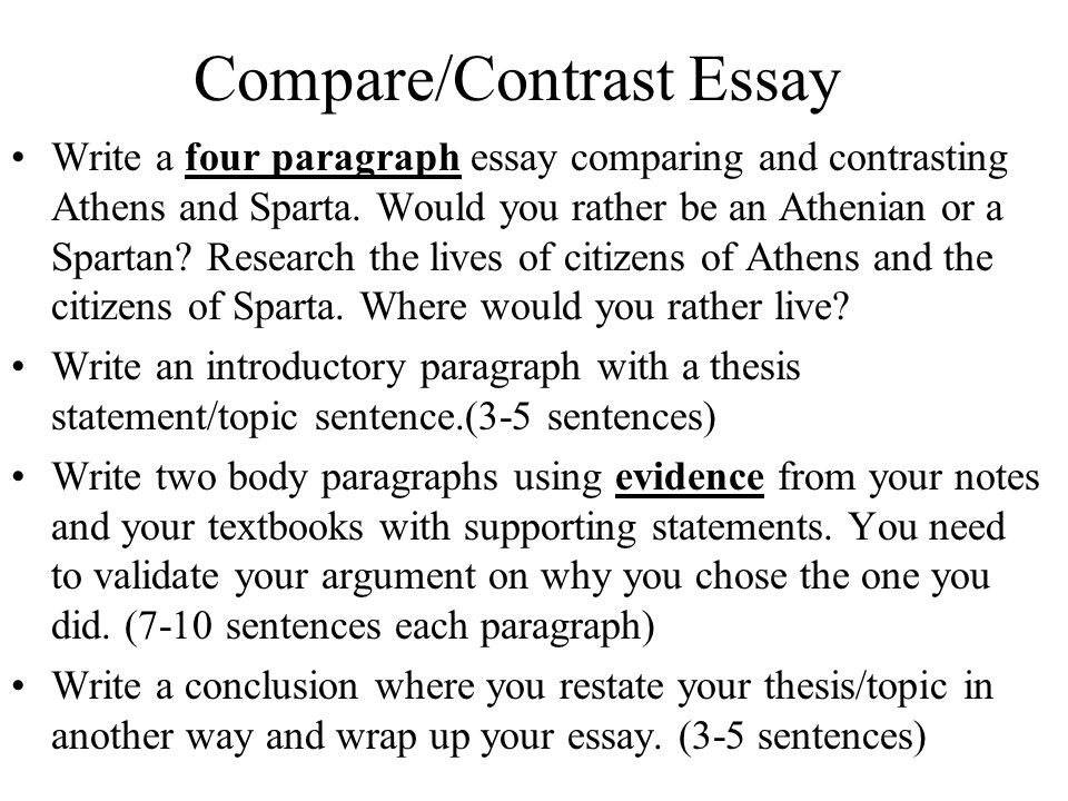 how to write a four paragraph compare contrast essay fresh essays compare contrast example essay