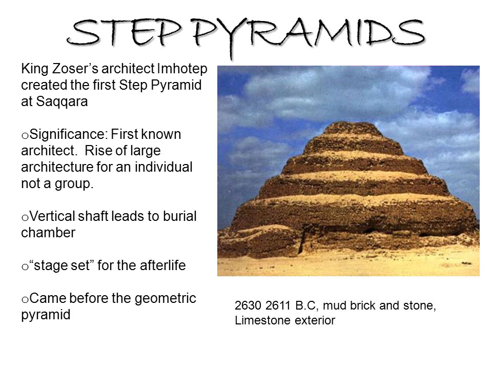 Step pyramids king zoser s architect imhotep created the for Imhotep architecte