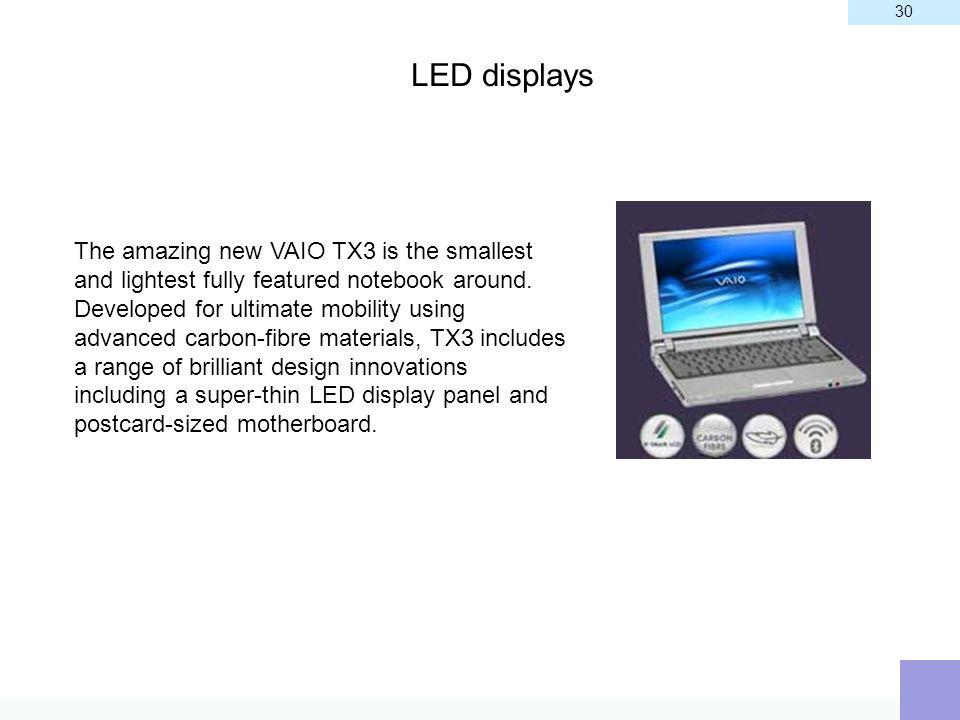 30 LED displays.