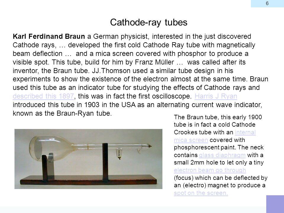 6 Cathode-ray tubes.