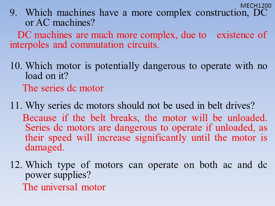 Fundamentals of dc electric machinery ppt video online for Ac dc motors and drives fundamentals