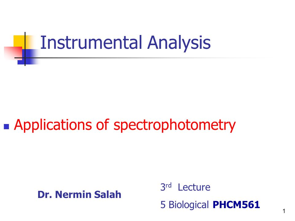 application of spectrophotometry in biology