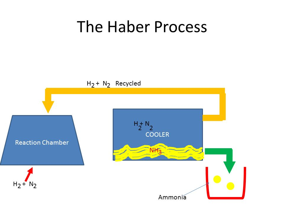 The haber process ppt download the haber process h n recycled 2 2 cooler reaction chamber h n 2 ccuart Image collections