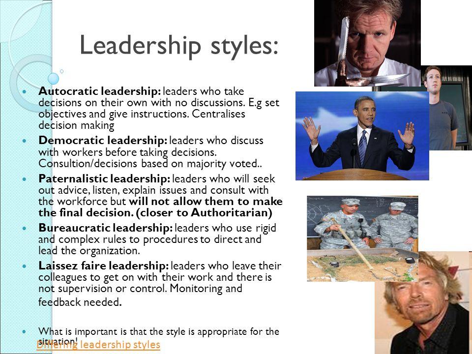 autocratic and democratic leadership pdf