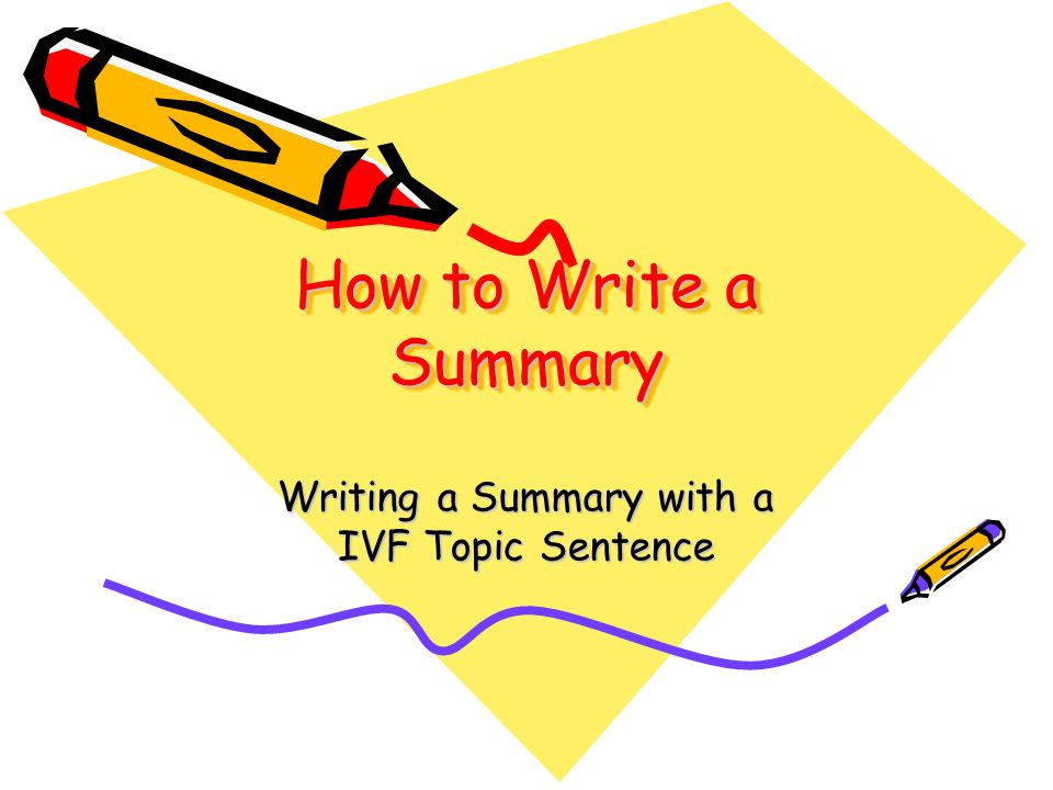 How Do You Write a Plot Summary?