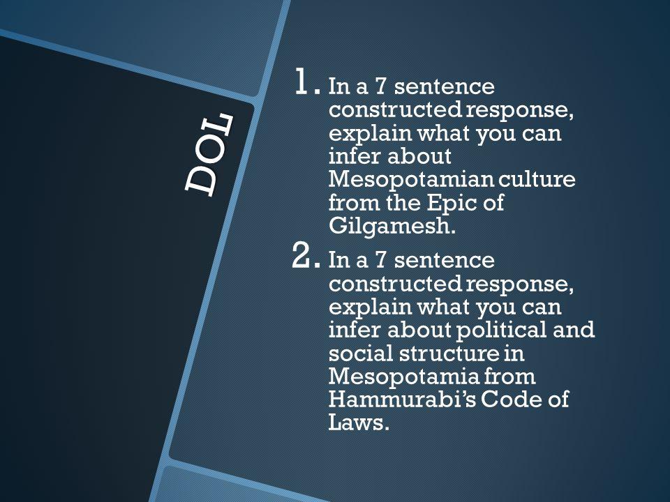 epic of gilgamesh essay question