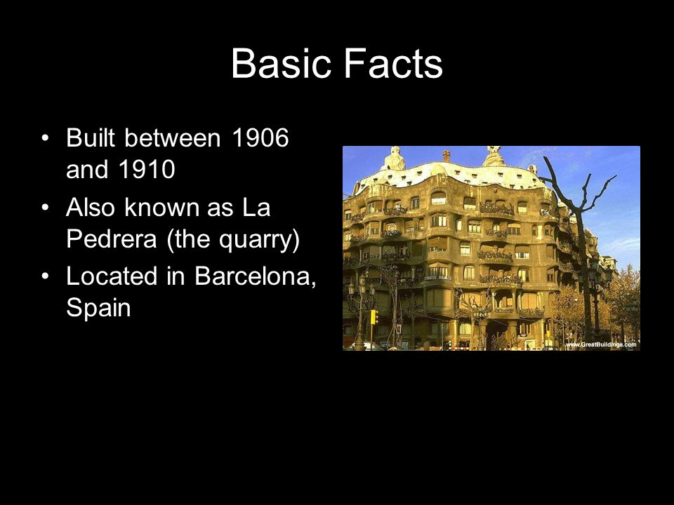 Basic Facts Built between 1906 and 1910