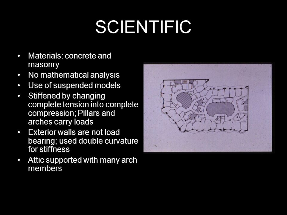 SCIENTIFIC Materials: concrete and masonry No mathematical analysis