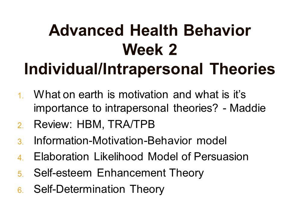 models of health behavior Ecological models of health behavior and health promotion brief description : ecological models are comprehensive health promotion models that are multiface.