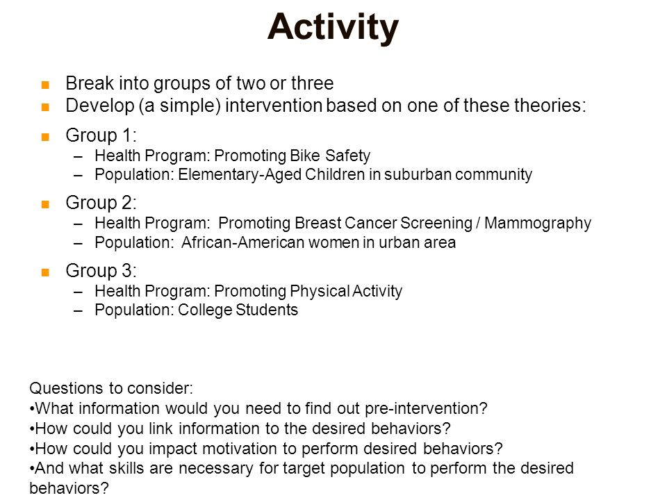 active participation to meet individual needs and motivation