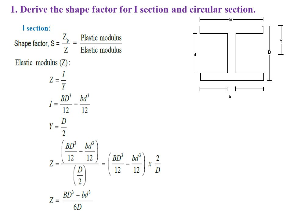 Shape Factor For Rectangular Section 28 Images