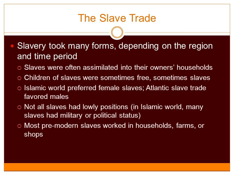 position of slaves from their perspective The status of women in islam  the position of islam on this issue has been among the subjects presented to the western reader with  than slaves commonly so.