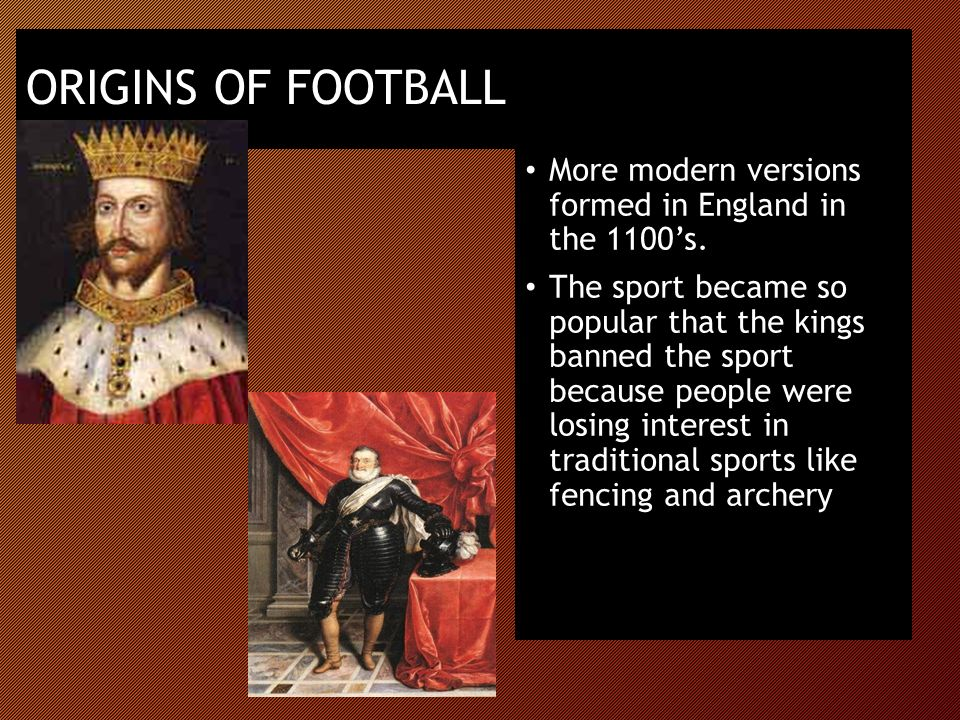 The origin of modern sports