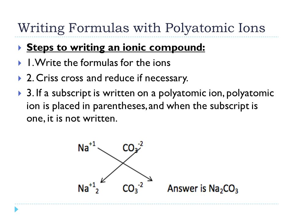 how to know when a compound is an ion