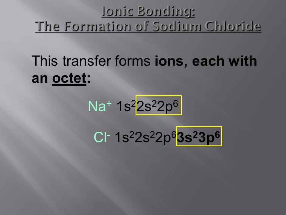 formation of ionic bonding The formation of ions ionic bonding as the strong bonding found in solids the importance and limitations of the ionic bonding model chemical language.