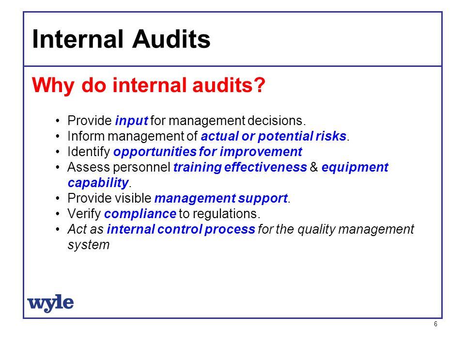 Internal Audits A Management Tool Ppt Video Online Download