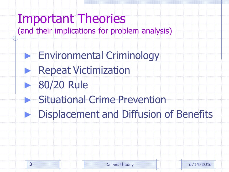 an analysis of prevent crimes One interesting issue in the economic analysis of crime is the question of which theft is inefficient—but spending a hundred dollars to prevent a ten-dollar.