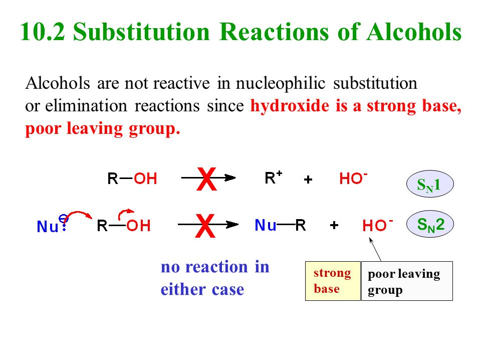 title nucleophillic substitution reaction essay The sn1 reaction is a substitution reaction in organic chemistry sn stands for nucleophilic substitution and the 1 represents the fact that the rate-determining step is unimolecular the reaction involves a carbocation intermediate and is commonly seen in reactions of secondary or tertiary alkyl halides under strongly basic conditions or.