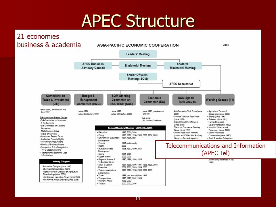 Telecommunications and Information (APEC Tel)