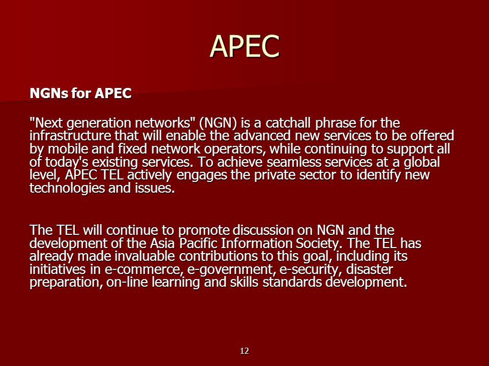 APEC NGNs for APEC.