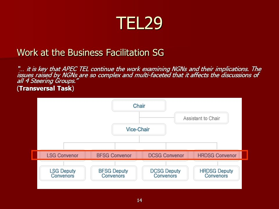 TEL29 Work at the Business Facilitation SG