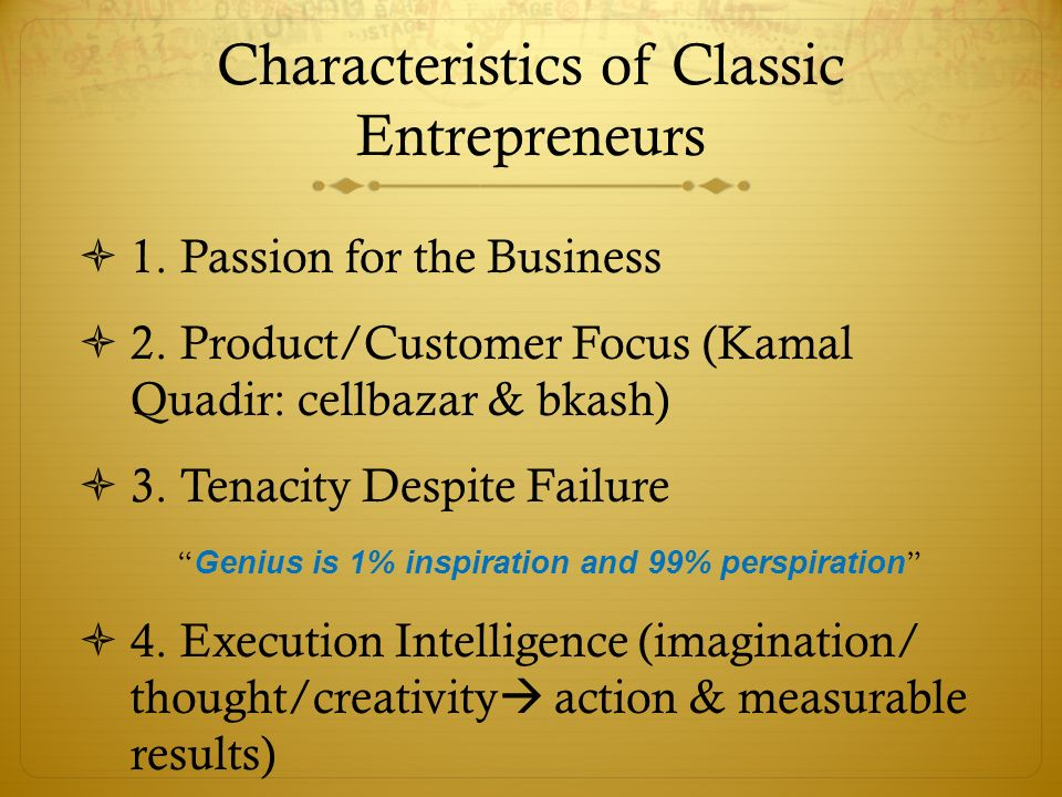 10 characteristics of an entrepreneur pdf