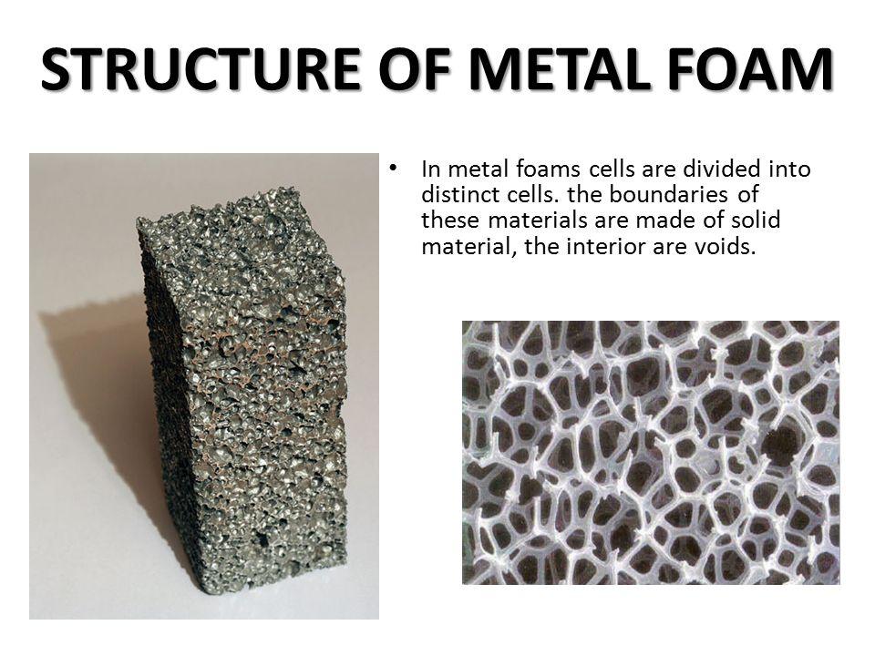 metal foam presented by cloud ppt video online download. Black Bedroom Furniture Sets. Home Design Ideas