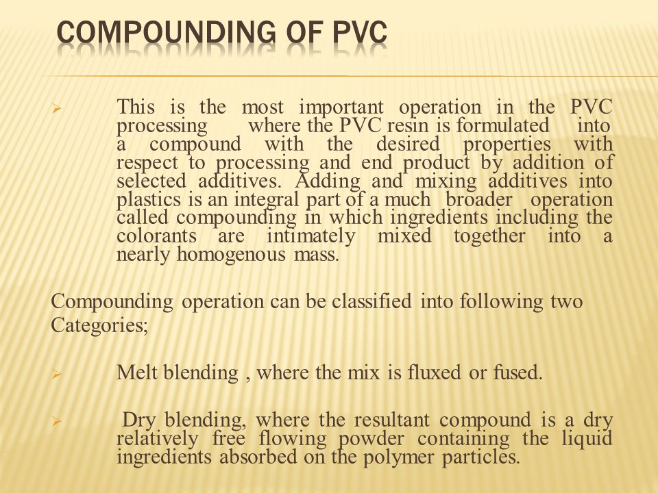 pvc compounds and processing pdf