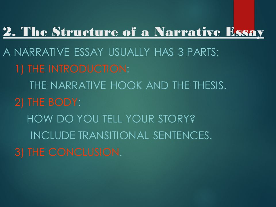 words to start a narrative essay Using words correctly there are countless ways to begin an essay effectively as a start use the narrative strategy of delay.