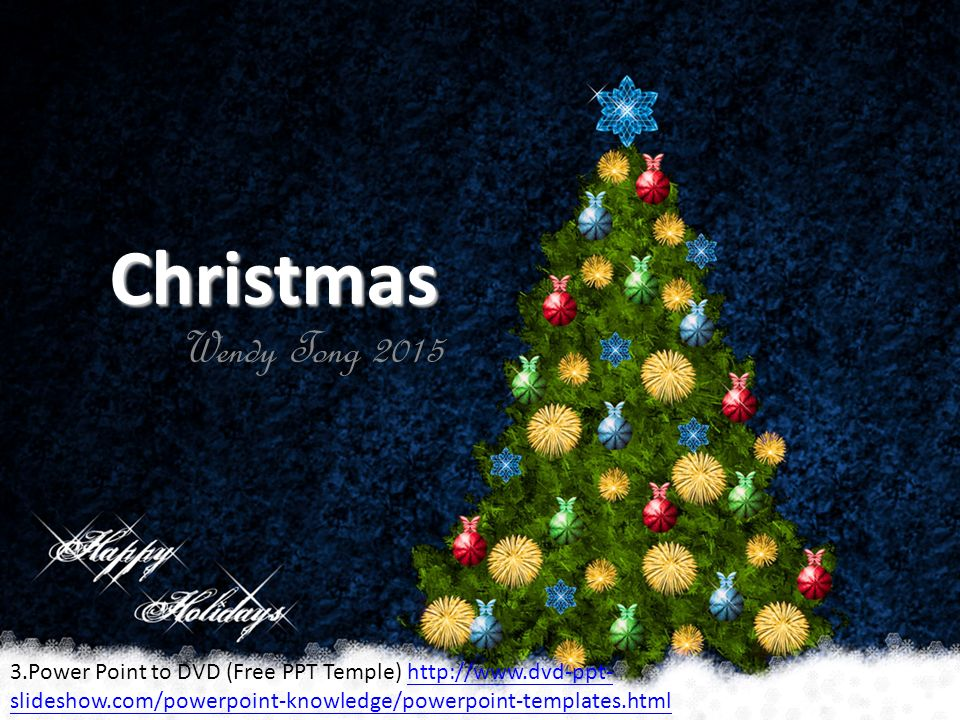 Christmas Wendy Tong Power Point To Dvd Free Ppt Temple
