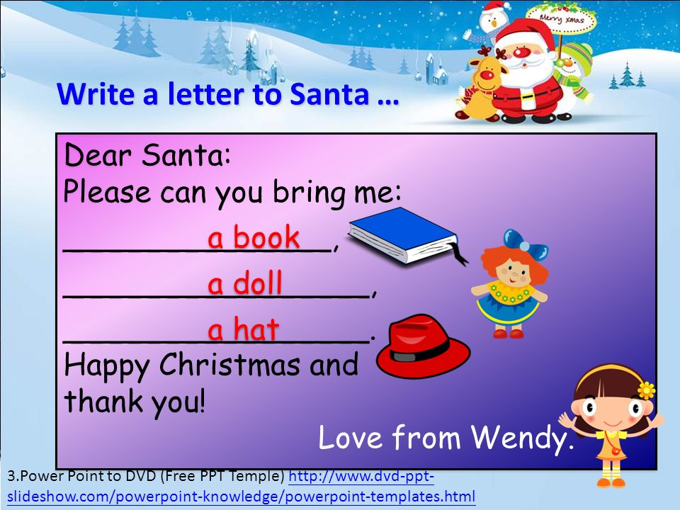 Free Santa Claus Power Point Template