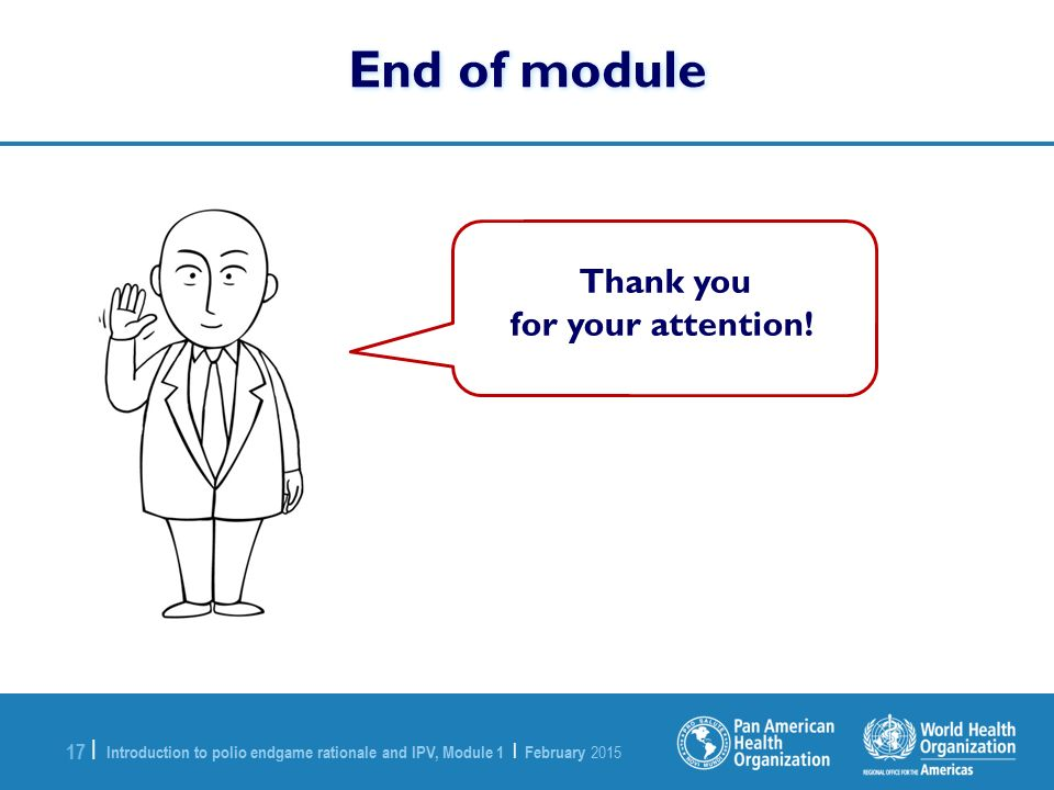 End of module Thank you for your attention!