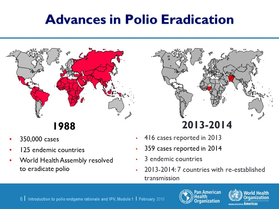 Advances in Polio Eradication