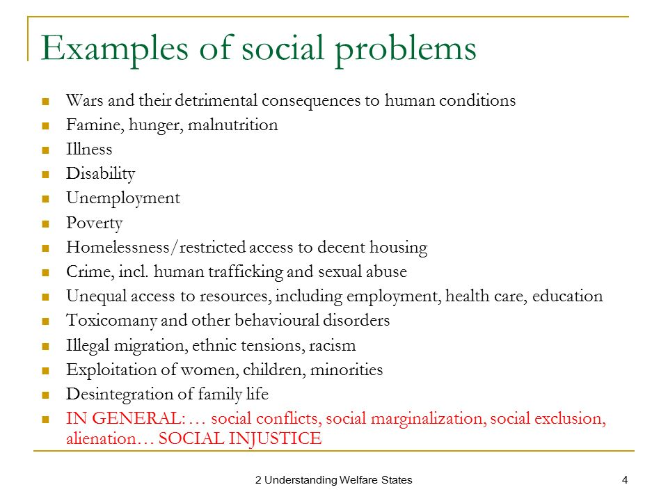 Examples Of Social Policy >> Social Policies And Welfare And Social Issues Coursework Sample