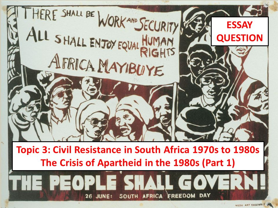 politics and apartheid essay Free essay on history of apartheid in south africa available totally free at echeatcom, the largest free essay community.
