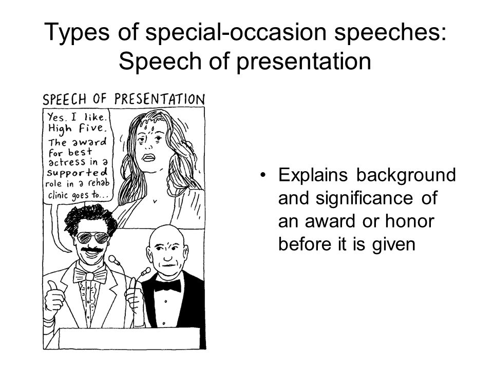 how to write an occasion speech