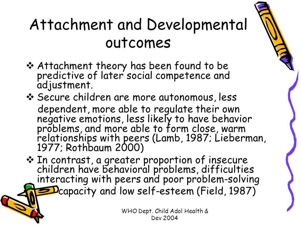 Attachment theory and influence on childrens emotional development
