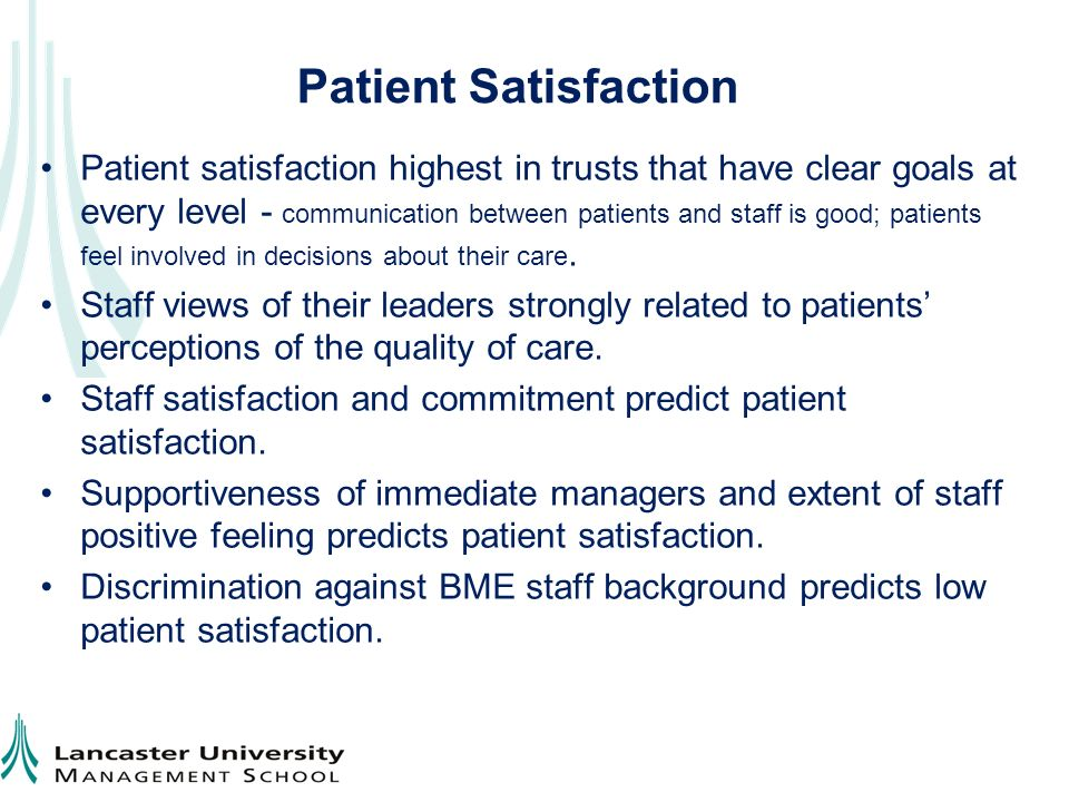 patient satisfaction and quality of care While many hospitals have collected information on patient satisfaction, prior to hcahps there was no national standard hospitals to improve their quality of care.