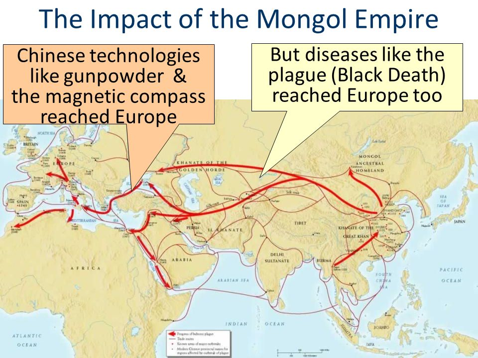 impact of the mongol conquests The mongol empire had a lasting impact, unifying large regions, some of which   1279 concluding with the mongols' successful conquest of populous china,.