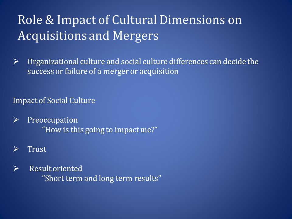 impact of mergers acquisitions on Mergers and acquisitions: the human factor focuses on the influence of human factor in the realization of mergers and acquisitions the book first tackles the importance for managers to understand mergers and acquisitions, merger phenomenon, and the impact of mergers and acquisitions on organizational performance discussions f.